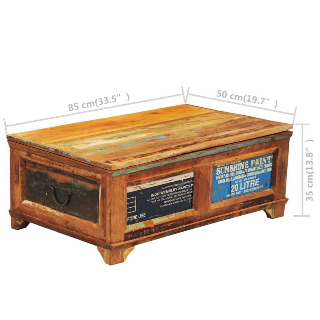 couchtisch beistelltisch aufbewahrungsbox vintage retro g nstig kaufen. Black Bedroom Furniture Sets. Home Design Ideas