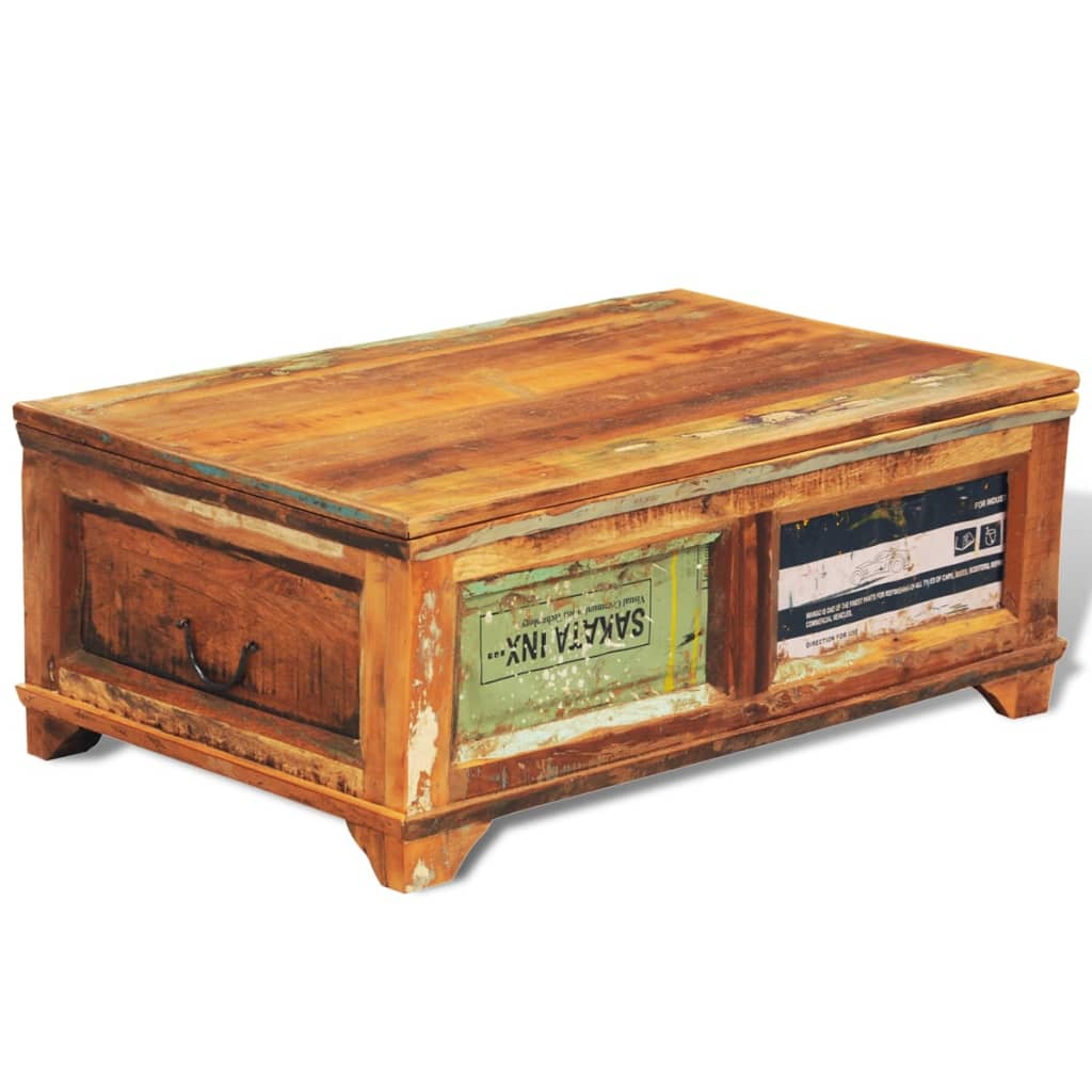 couchtisch beistelltisch aufbewahrungsbox vintage retro. Black Bedroom Furniture Sets. Home Design Ideas