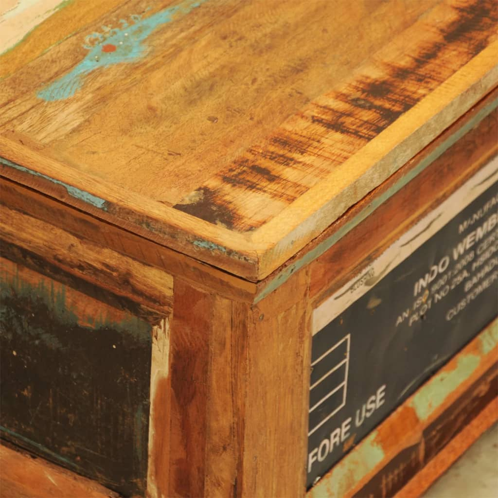 Reclaimed Wood Storage Box Coffee Table Vintage Antique
