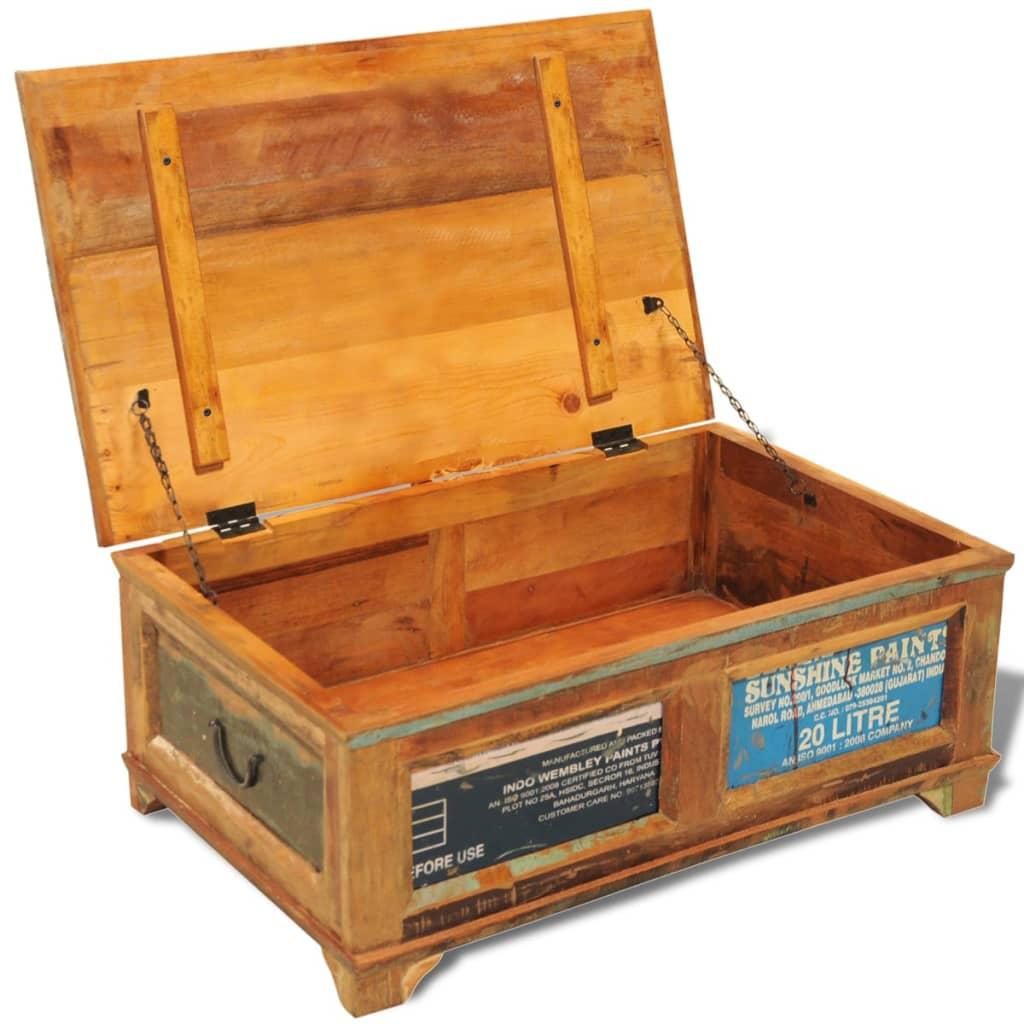 Couchtisch beistelltisch aufbewahrungsbox vintage retro g nstig kaufen for Couchtisch beistelltisch