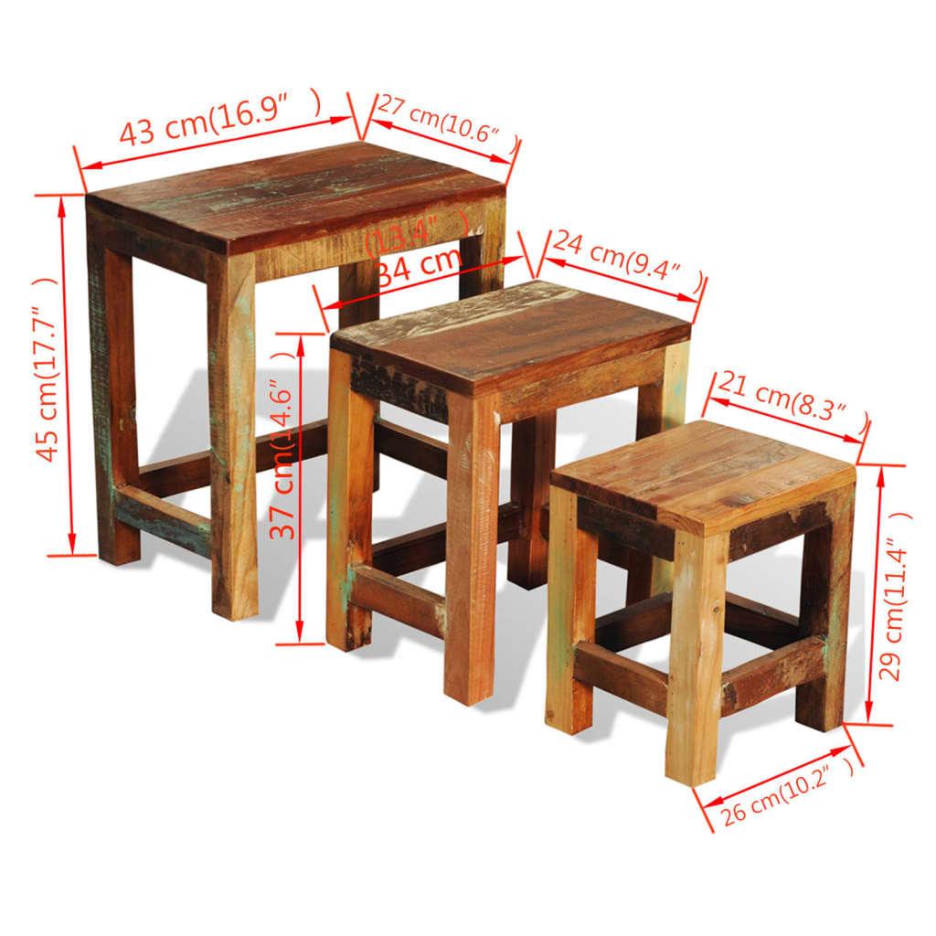 Articoli per tavolini impilabili in legno anticato stile for Tavolini in legno