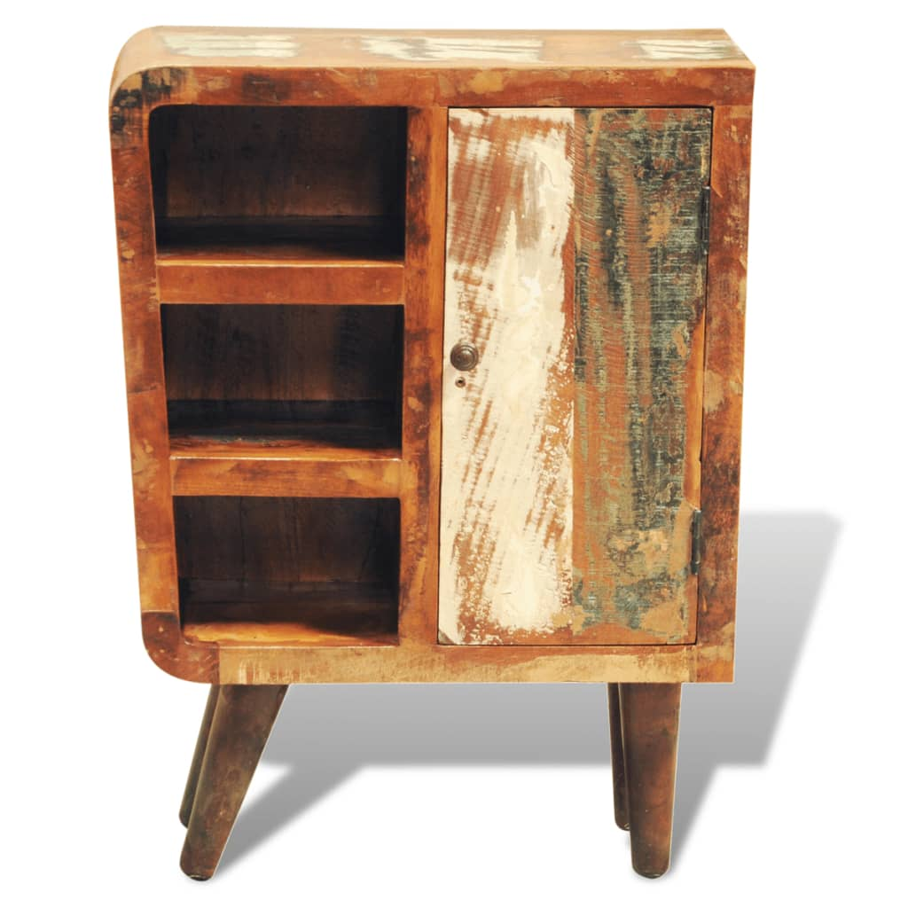 Reclaimed Wood Cabinet With One Door Vintage Antique Style