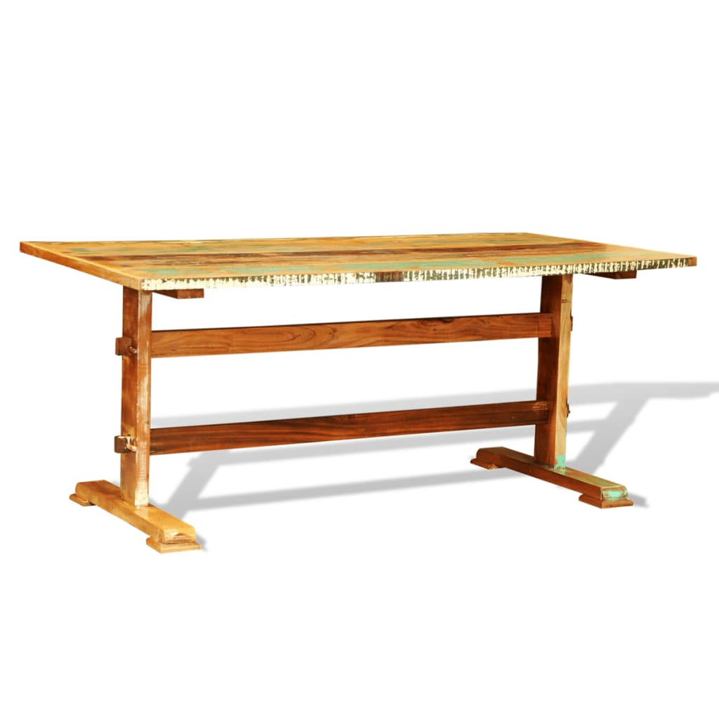 vidaXLcouk Reclaimed Wood Dining Table Vintage Antique  : image from www.vidaxl.co.uk size 1024 x 1024 png 277kB
