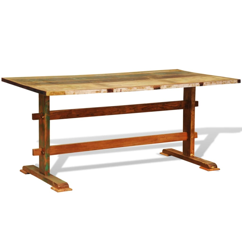 Reclaimed Wood Dining Table Vintage Antique Style