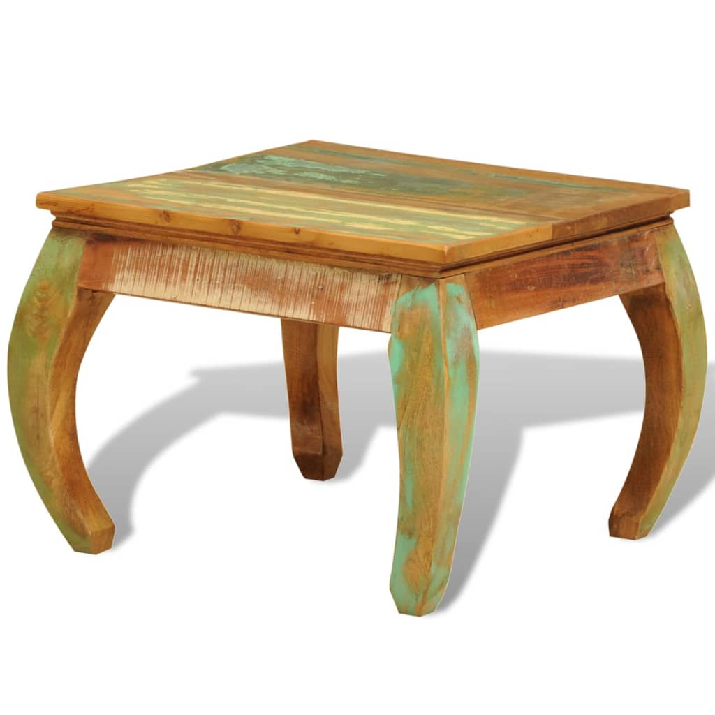Reclaimed wood coffee table vintage antique style for Wood coffee table kits