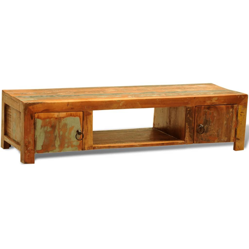 der sideboard tv tisch vintage retro massivholz zwei t re online shop. Black Bedroom Furniture Sets. Home Design Ideas