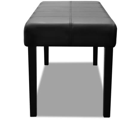 banc en simili cuir de haute qualit noir. Black Bedroom Furniture Sets. Home Design Ideas