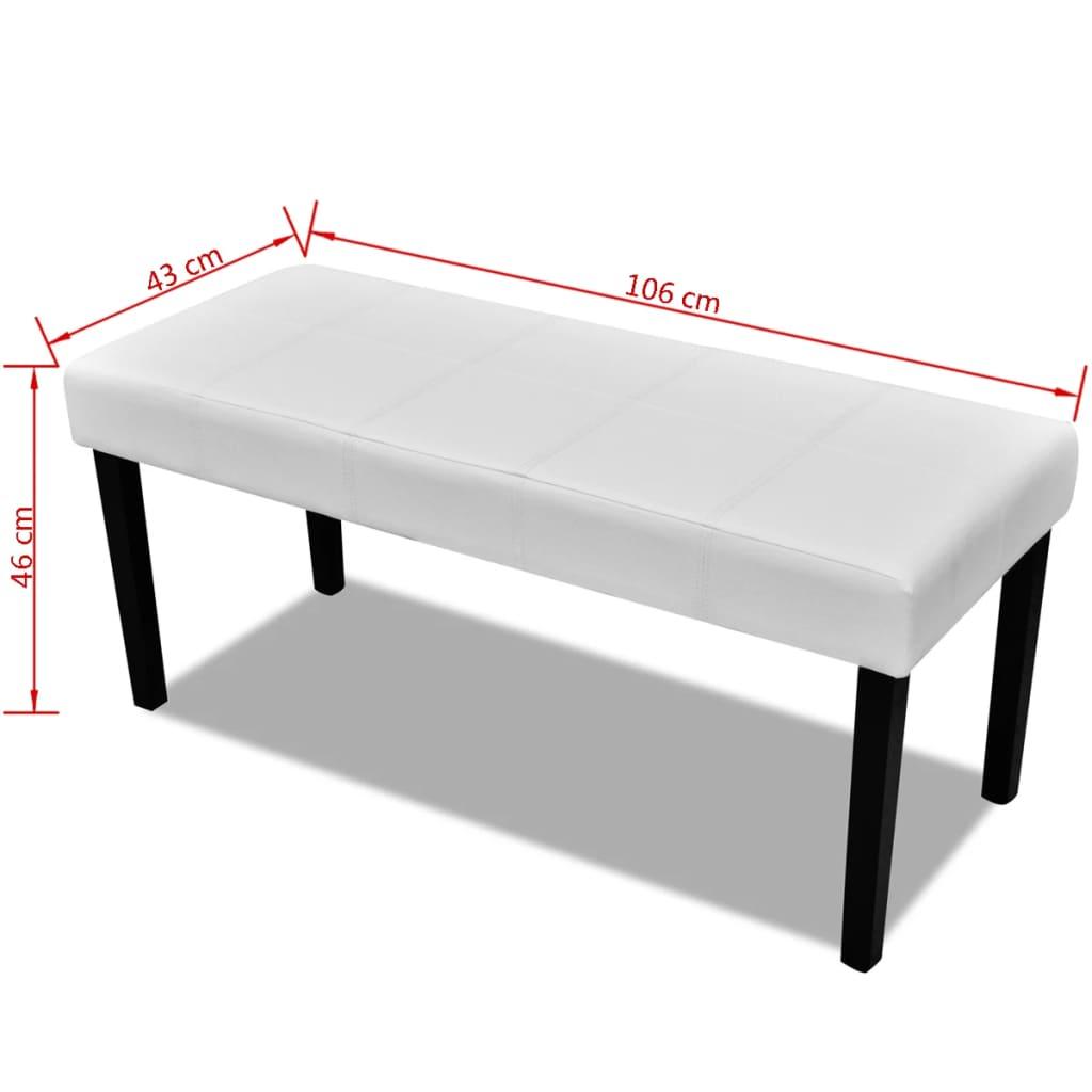 sitzbank aus hochwertigem kunstleder wei g nstig kaufen. Black Bedroom Furniture Sets. Home Design Ideas