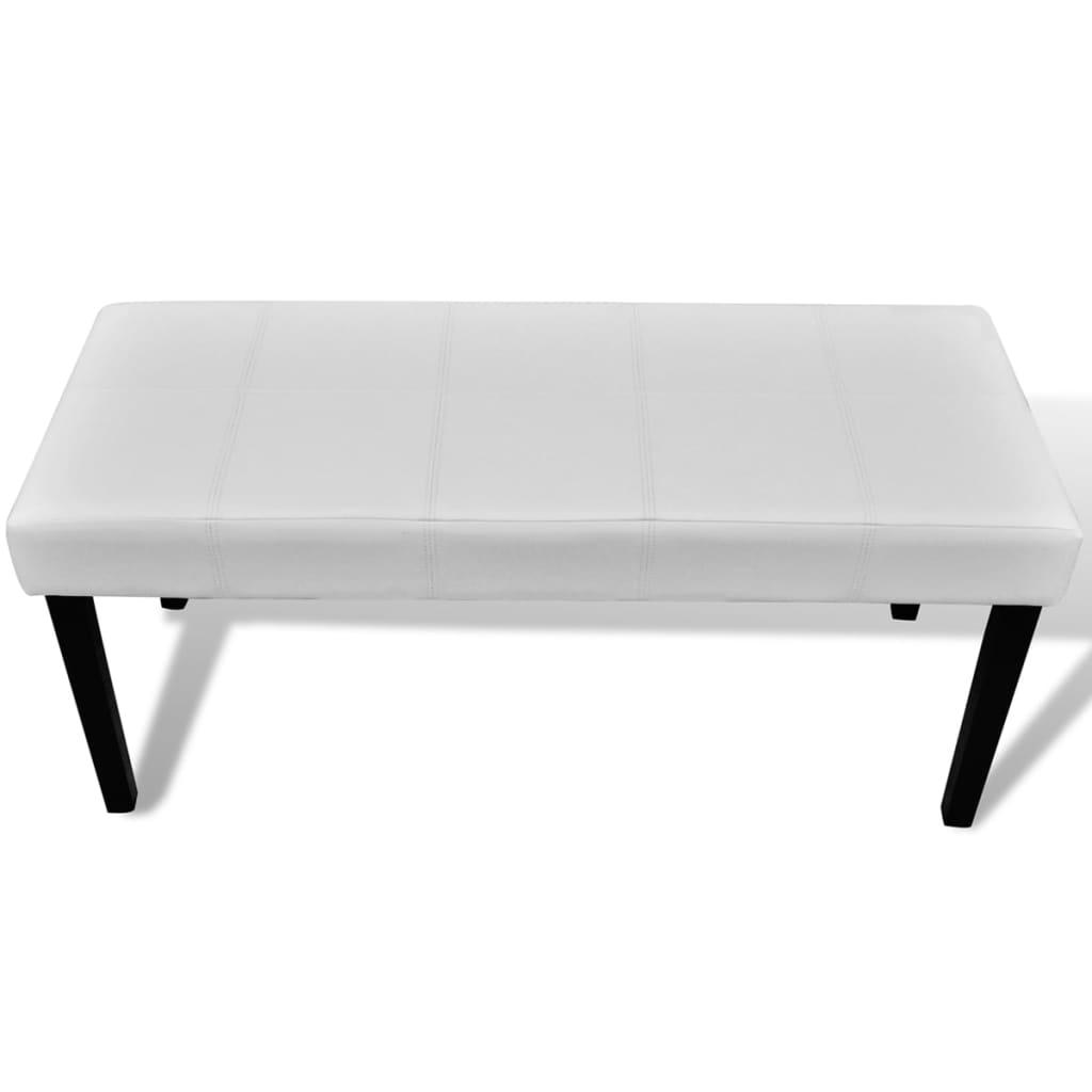 acheter banc en simili cuir de haute qualit blanc pas. Black Bedroom Furniture Sets. Home Design Ideas