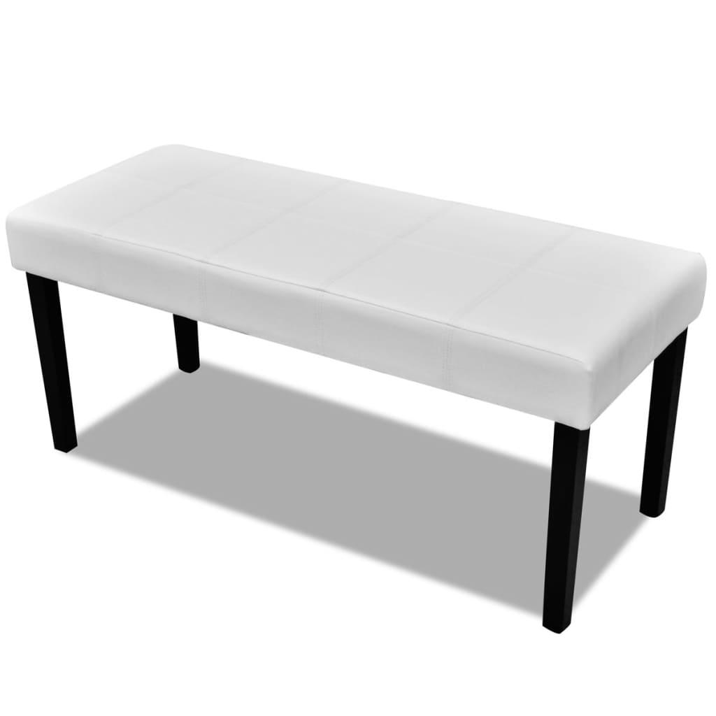 banc en simili cuir de haute qualit noir blanc banquette simili cuir ebay. Black Bedroom Furniture Sets. Home Design Ideas
