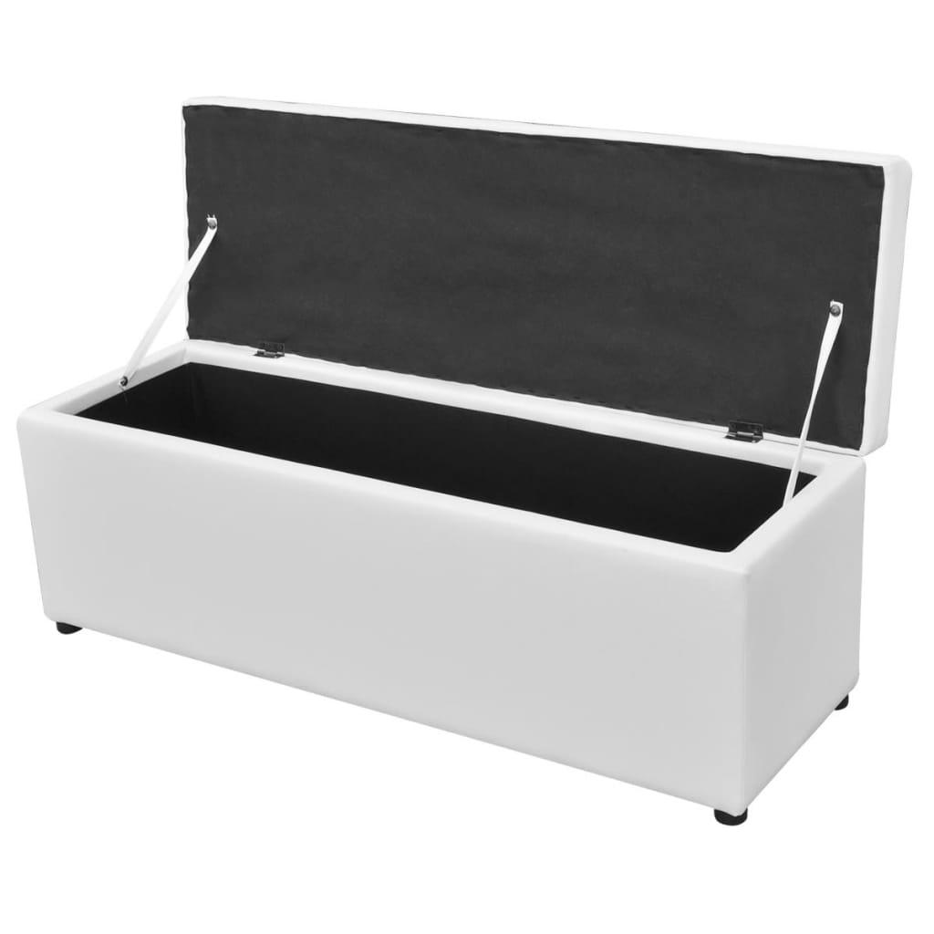 Vidaxl Three Piece Storage Bench Set With Footrest Artificial Leather Cream