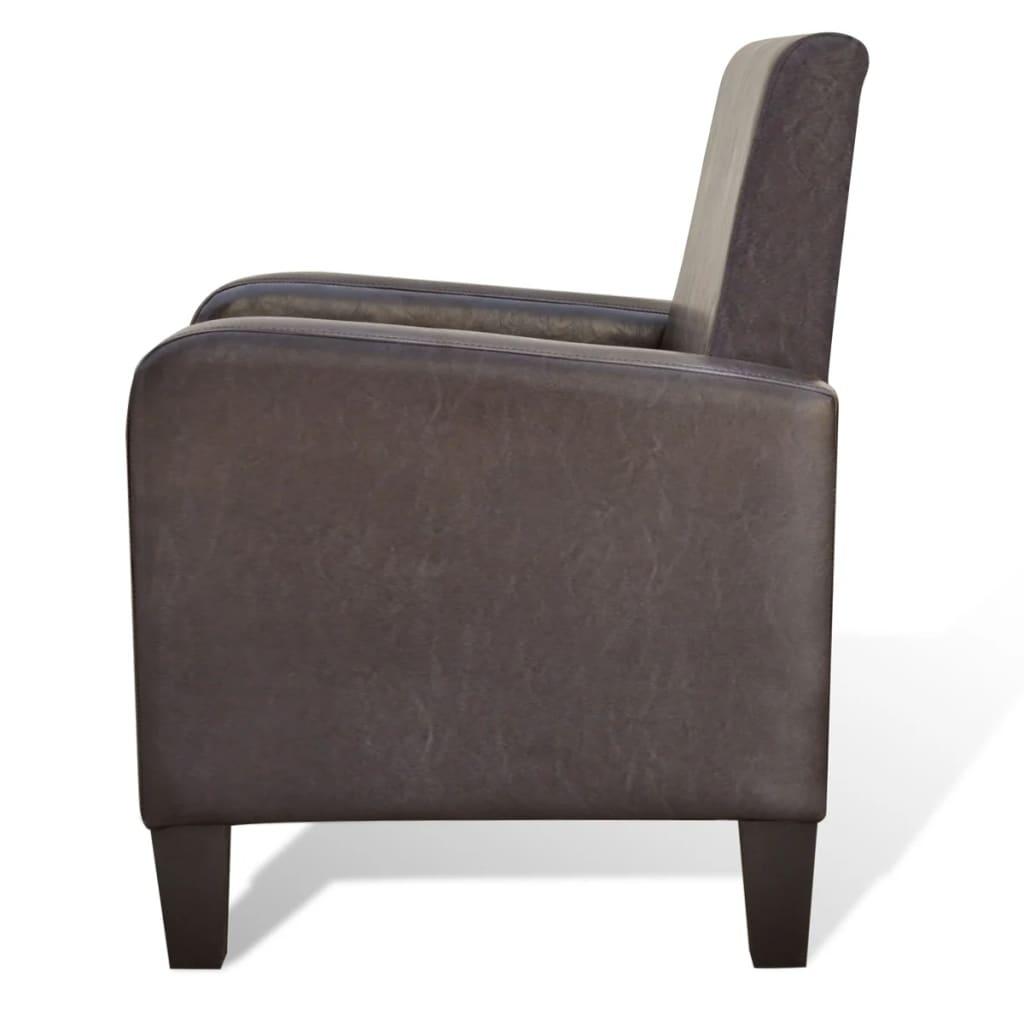 Kunstleder modern sessel polstersessel braun g nstig for Sessel modern