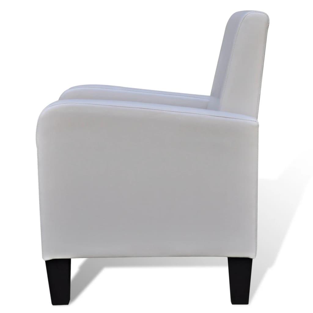 der kunstleder modern sessel polstersessel wei online. Black Bedroom Furniture Sets. Home Design Ideas