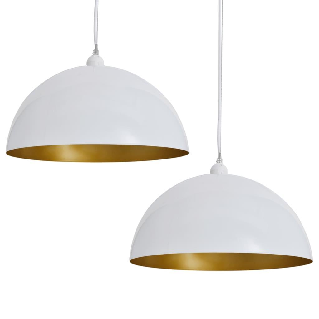 L mpara colgante de techo semiesf rica de color blanco 2 - Piezas para lamparas ...