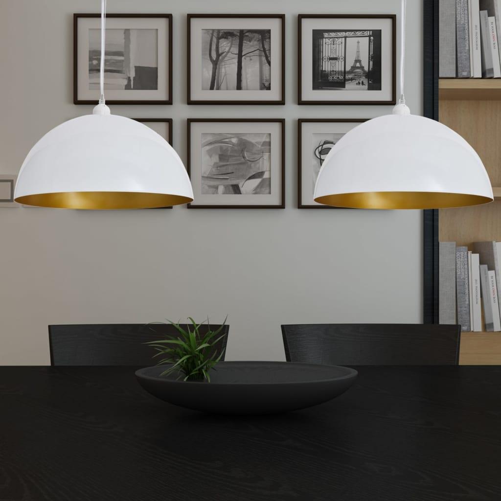 vidaXL Félgömb Alakú Fehér Mennyezeti Lámpa 2 db