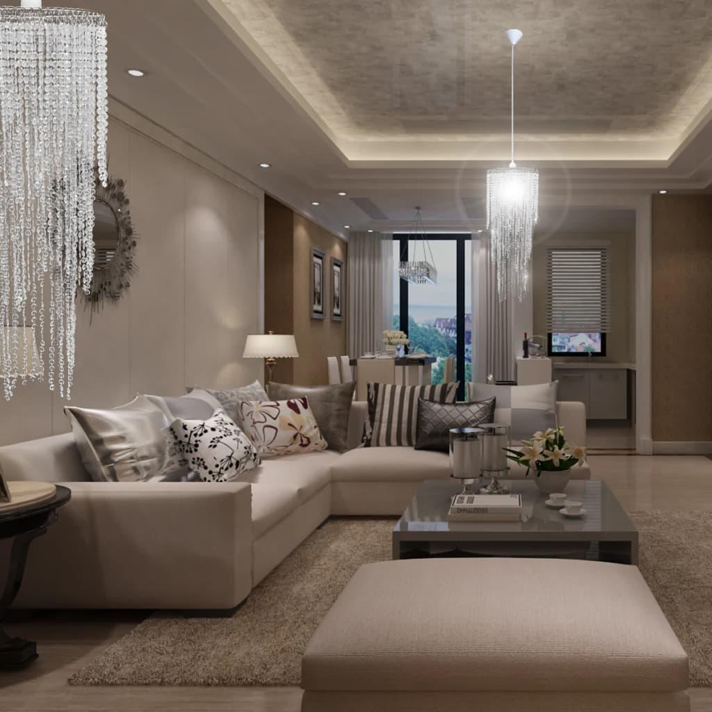 Lampadario da soffitto con paralume cristallo 26 x 70 cm for Lampadario da soffitto