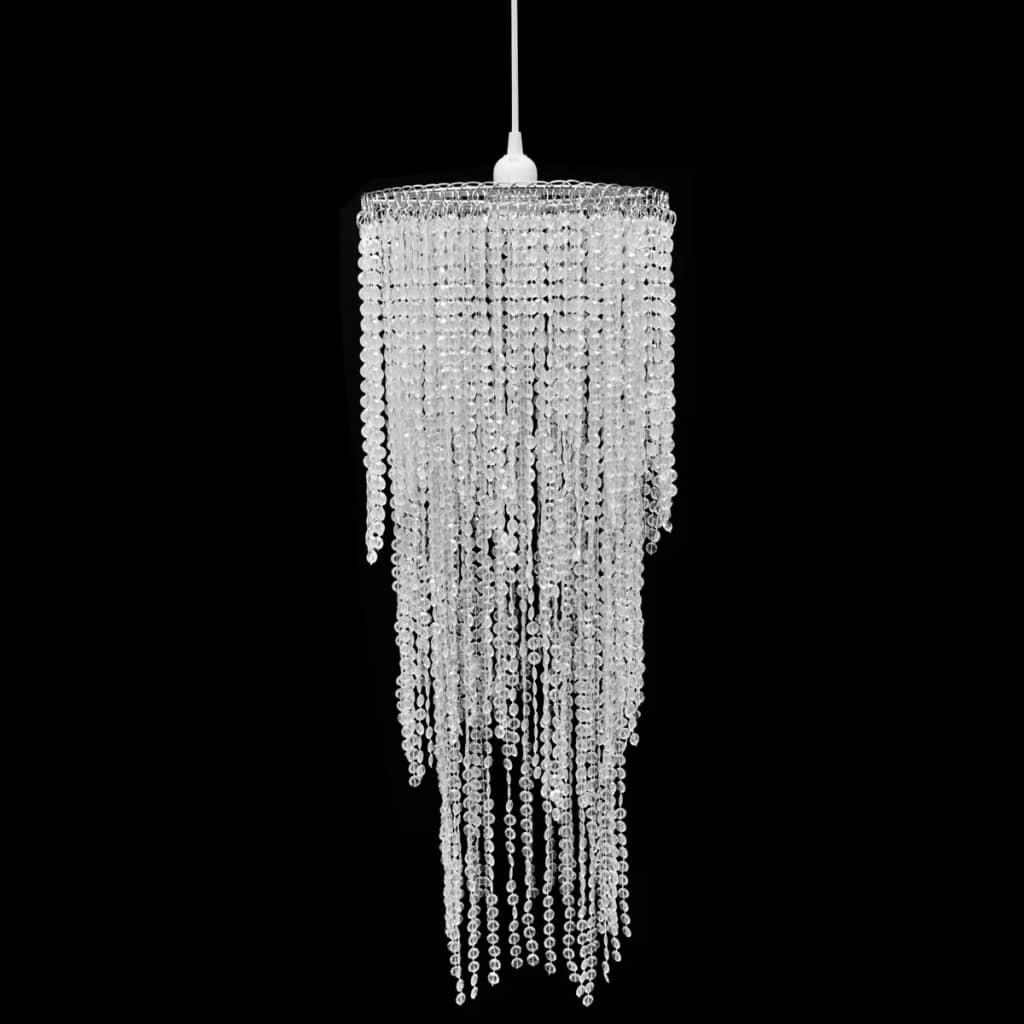 vidaXL Kristály Medál Lámpaernyő 26 x 70 cm
