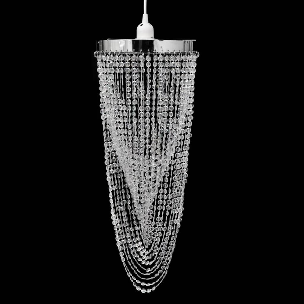 vidaXL Kristály Medál Lámpaernyő 22 x 58 cm