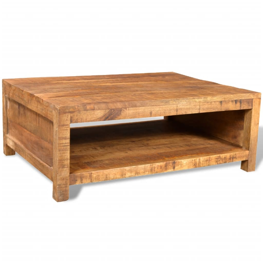 La boutique en ligne table basse carr e en manguier style - Table basse manguier ...