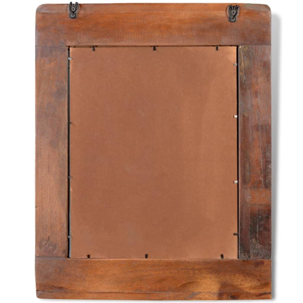 Armadietto in legno di recupero solido per bagno con - Specchio bagno legno ...