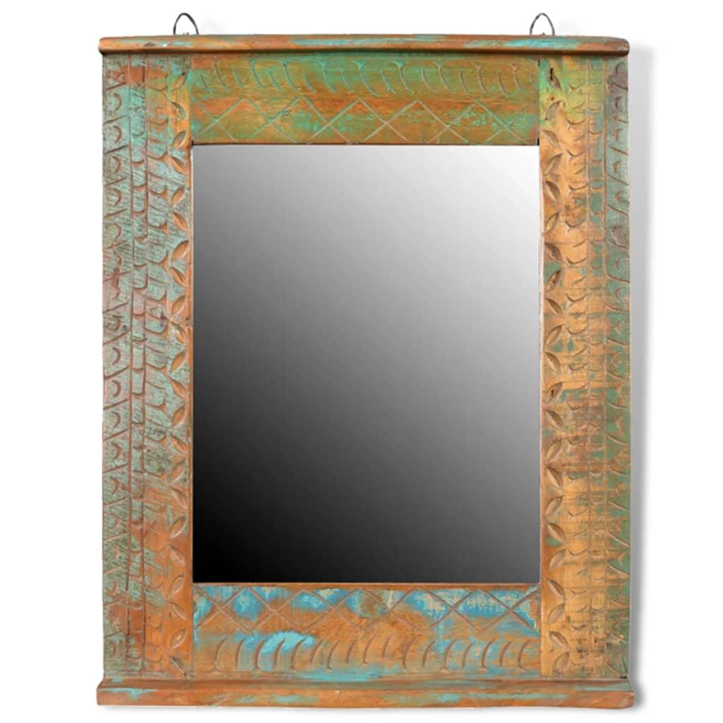 Articoli per armadietto in legno di recupero solido per - Armadietto bagno con specchio ...