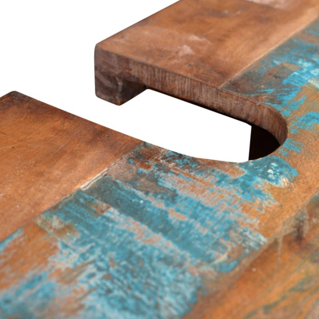 Mueble de ba o de madera reciclada con espejo tienda - Muebles de bano madera ...
