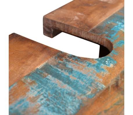 ensemble meuble sous vasque et miroir en bois massif recycl. Black Bedroom Furniture Sets. Home Design Ideas