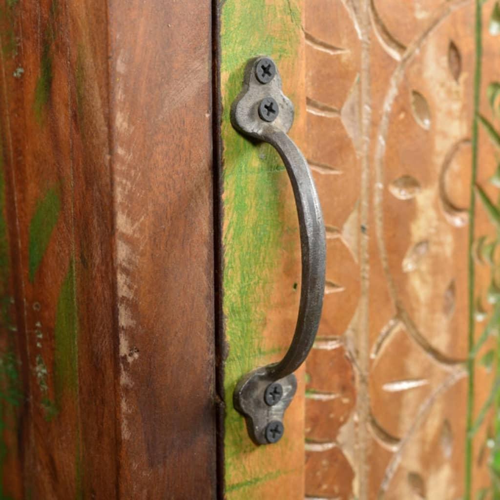 Mueble de ba o de madera reciclada con espejo y dos - Mueble de bano de madera ...