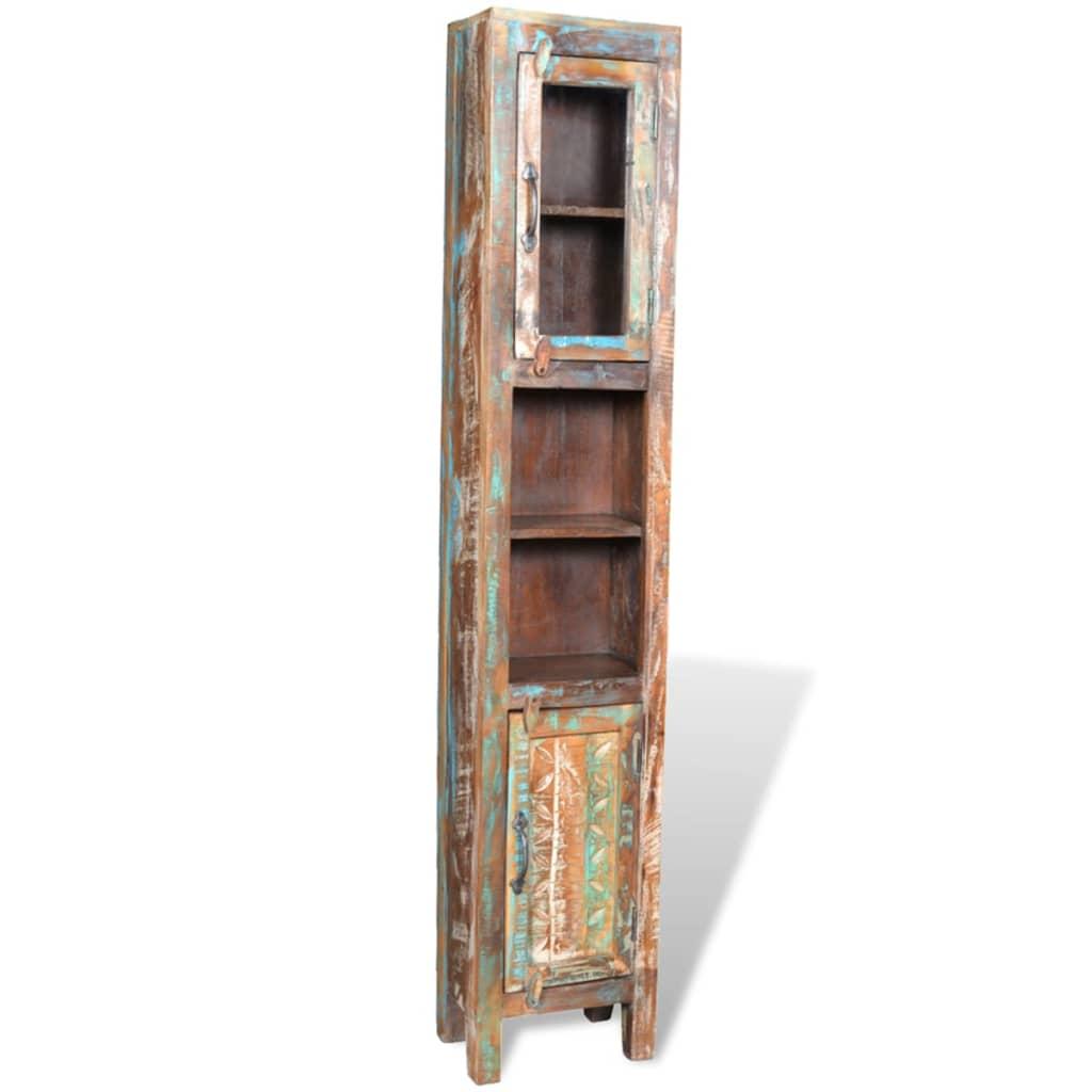 Mueble de ba o de madera reciclada con espejo y dos for Diseno de muebles con madera reciclada