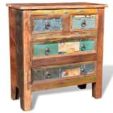 Armoire à 4 tiroirs en bois recyclé