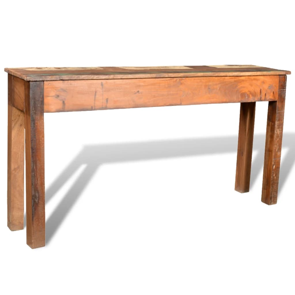 Wonderful image of Reclaimed Wood Side Table with 3 Drawers vidaXL.com with #361C11 color and 1024x1024 pixels