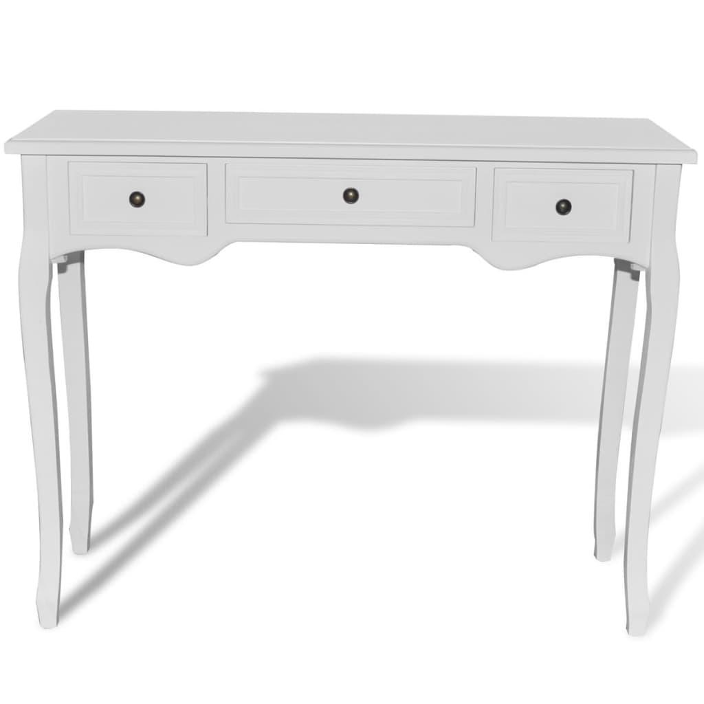 vidaXL-Tocador-Consola-Blanco-3-Cajones-Mueble-Mesa-Belleza-Dormitorio-Elegante