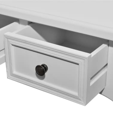 White Dressing Console Table with Three Drawers[5/7]