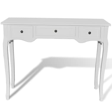 White Dressing Console Table with Three Drawers[3/6]