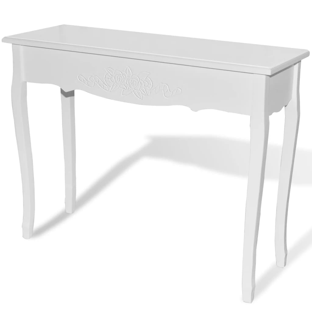 White dressing console table for Coiffeuse meuble