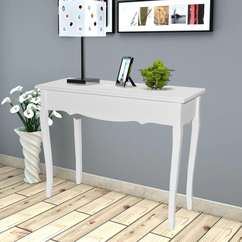 vidaXL Tocador Consola Blanco Mueble Mesa Belleza Dormitorio ...