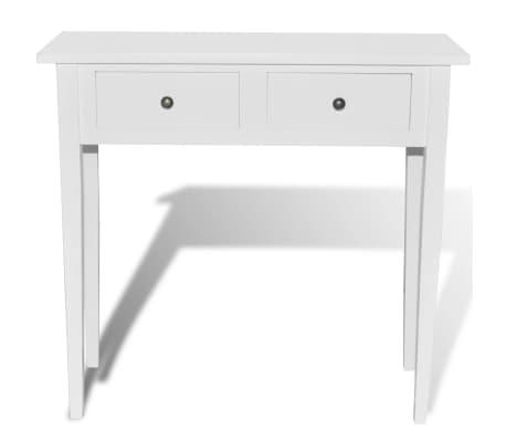 vidaxl table de console et coiffeuse avec 2 tiroirs blanc. Black Bedroom Furniture Sets. Home Design Ideas