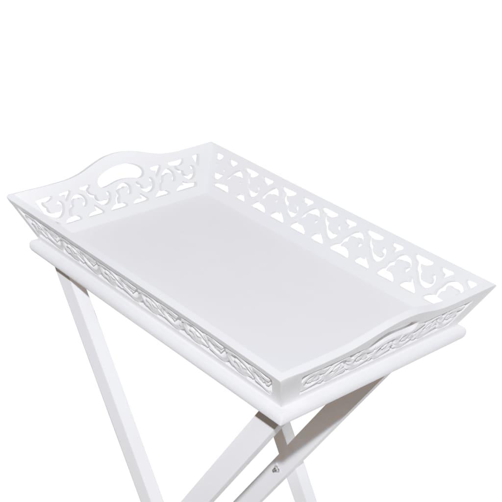 Tablett Weiss der beistelltisch tabletttisch tablett butlertisch weiß shop vidaxl de