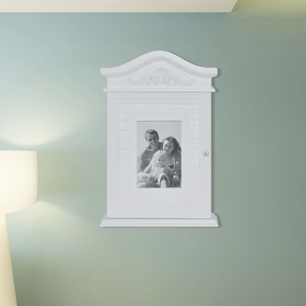 schl sselkasten schl sselk stchen mit fotorahmen wei g nstig kaufen. Black Bedroom Furniture Sets. Home Design Ideas