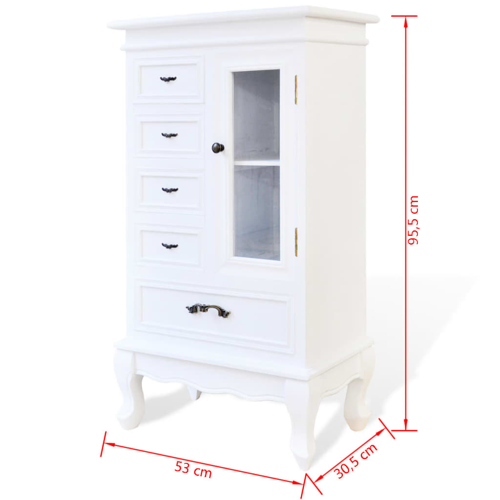 kommode schrank vitrine shabby mit schubladen regale antik. Black Bedroom Furniture Sets. Home Design Ideas