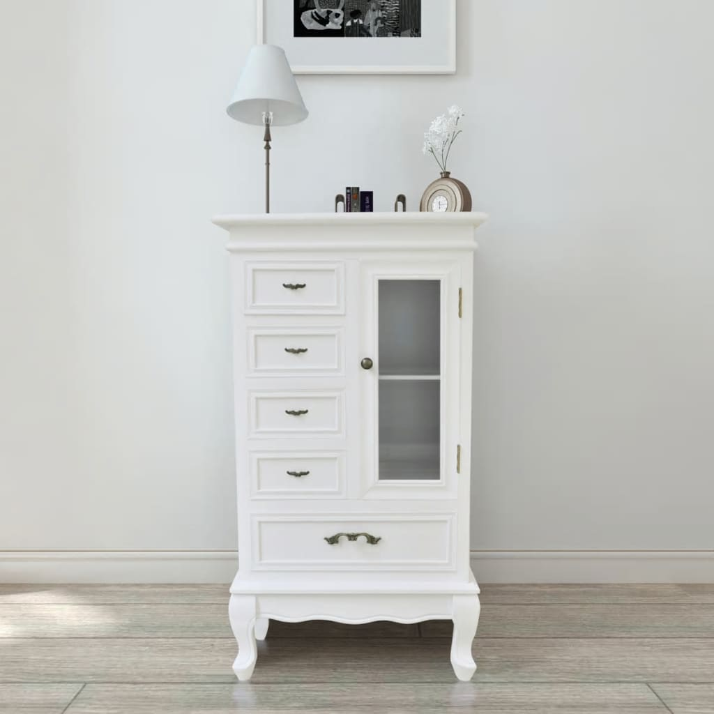der kommode schrank vitrine shabby mit schubladen regale. Black Bedroom Furniture Sets. Home Design Ideas