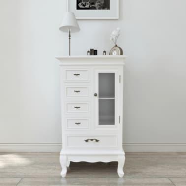 C moda blanca con 5 cajones y 2 estantes tienda online - Comoda blanca ...