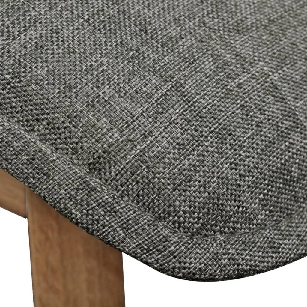Silla de comedor de roble 2 unidades color gris oscuro for Sillas de comedor color gris