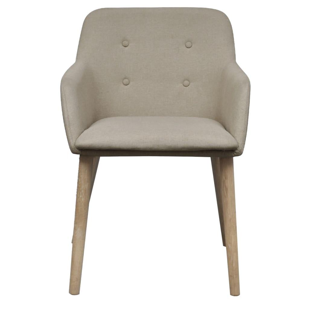 silla de comedor de roble con reposabrazos 2 unidades