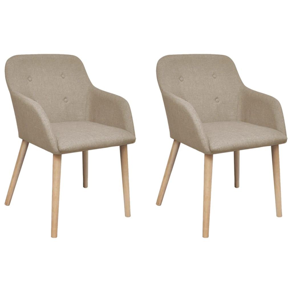 acheter set de 2 chaises gondole avec accoudoir int rieur en tissu beige pas cher. Black Bedroom Furniture Sets. Home Design Ideas