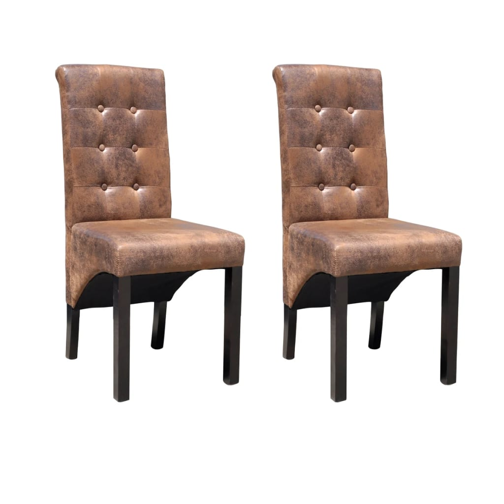 vidaXL Krzesła do jadalni, 2 szt., brązowe