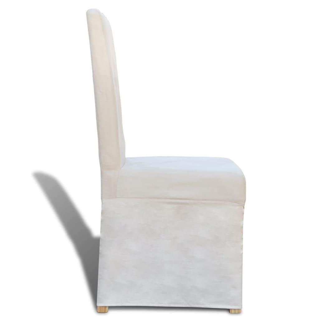 Silla de comedor con funda de color blanco crema 4 - Fundas silla comedor ...