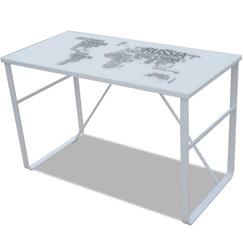 vidaXL Unikatowe, prostokątne biurko z mapą na blacie