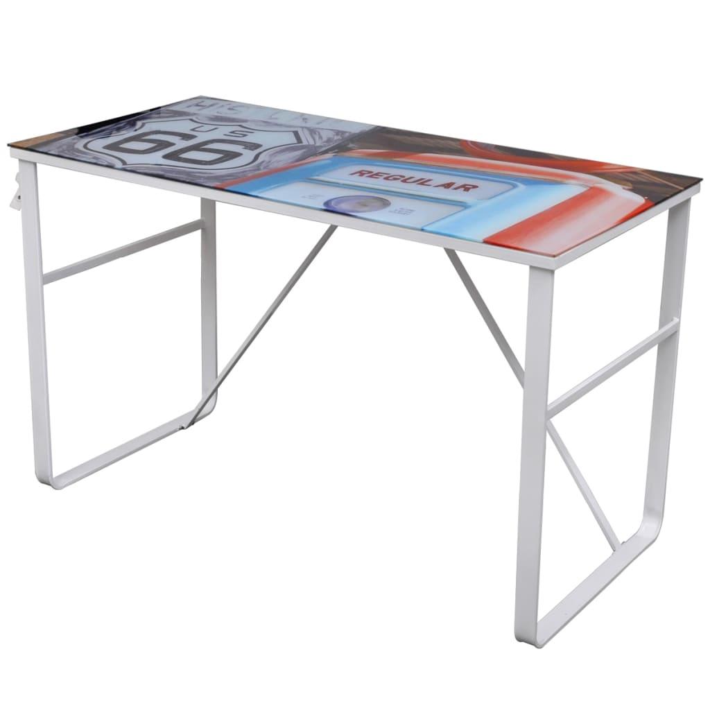vidaXL Unikatowe, prostokątne biurko