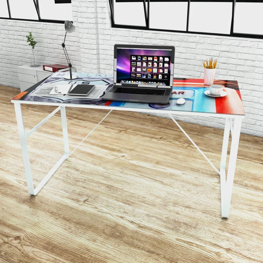 vidaXL Schreibtisch mit Lifestyle Print